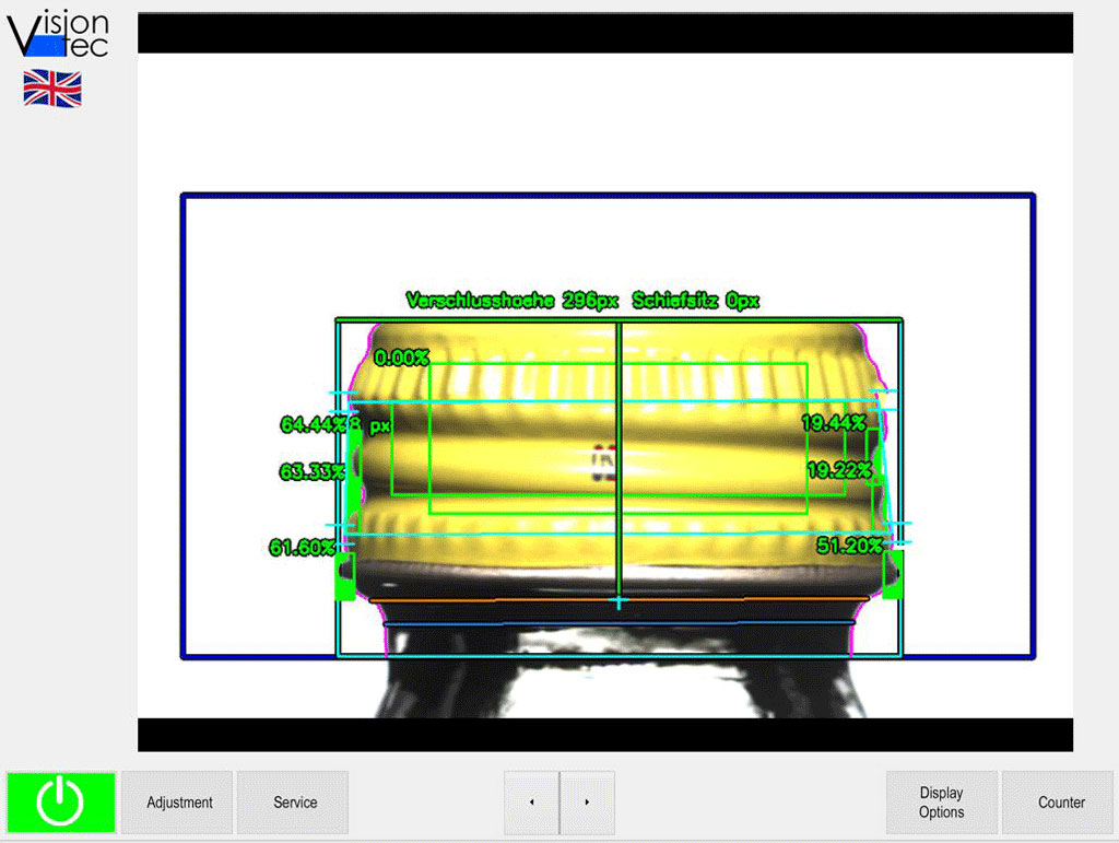 cap inspection 360 degree control